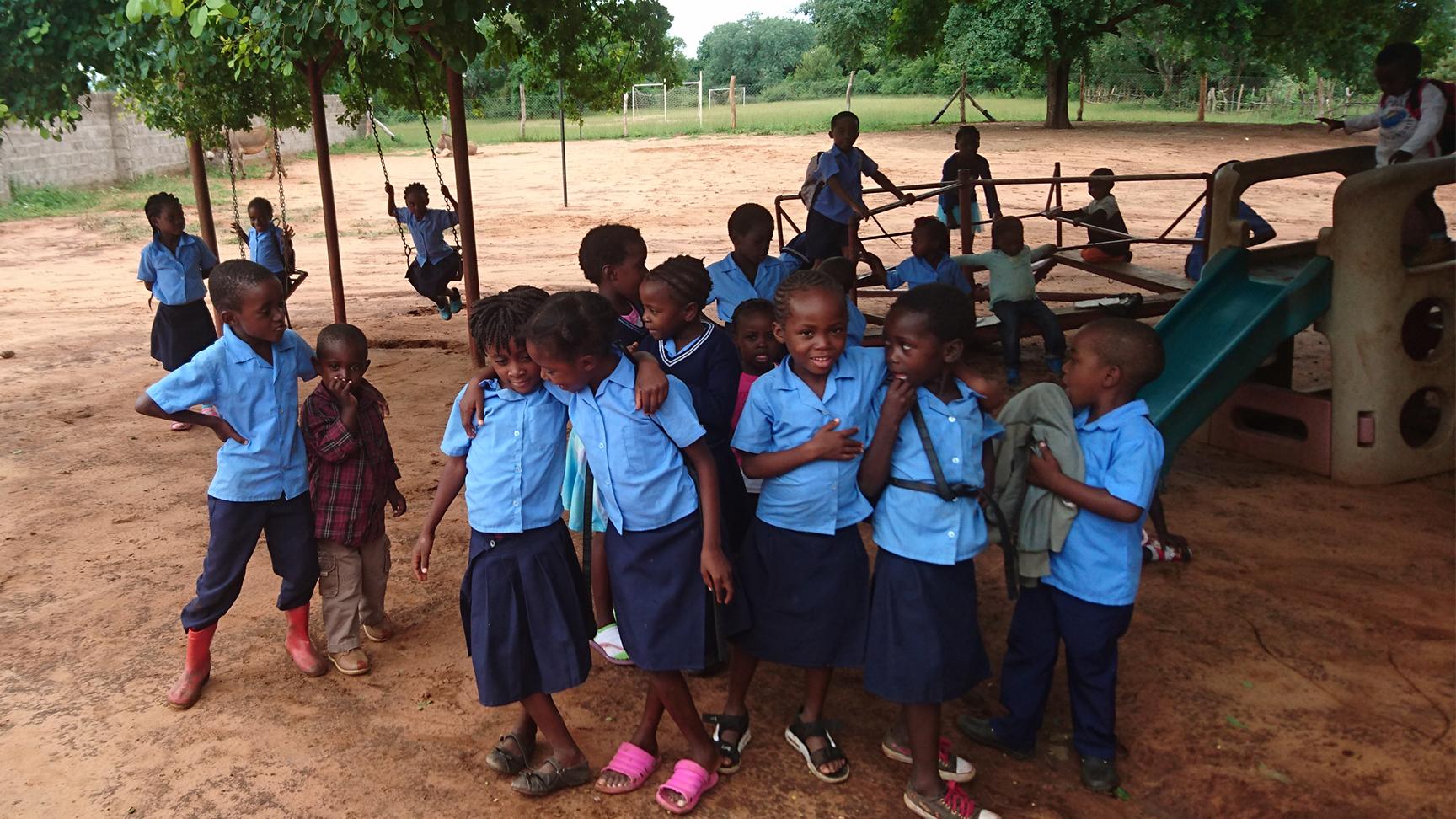 Children playing at Munyanya Pre-School